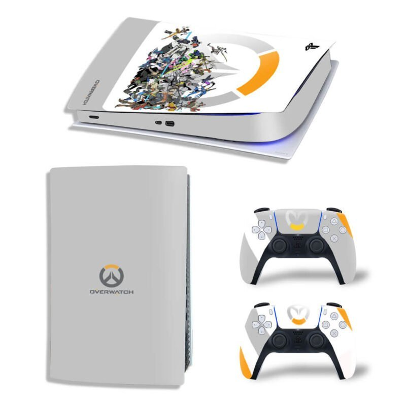 Overwatch Game Heroes Gray PS5 Digital Decal Cover