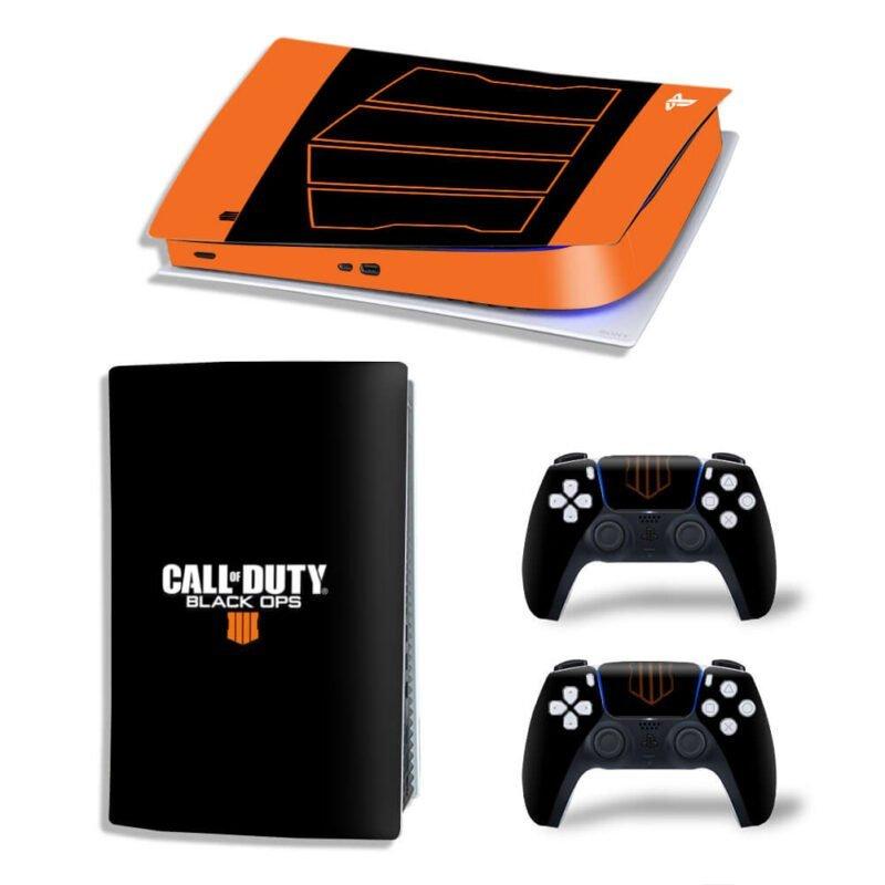 Call Of Duty Black Ops 4 Logo Black Orange PS5 Digital Cover