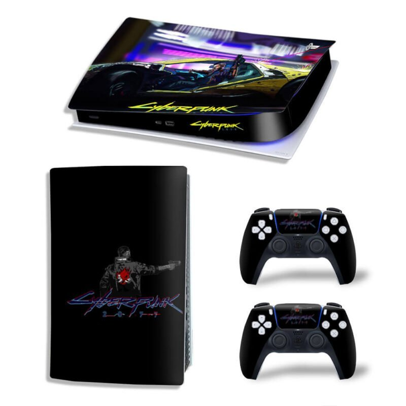 Cyberpunk 2077 Quadra 302 Mustang Black PS5 Digital Cover