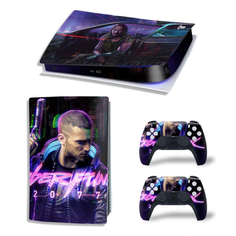 Johnny Silverhand And Vincent Cyberpunk 2077 PS5 Digital Skin