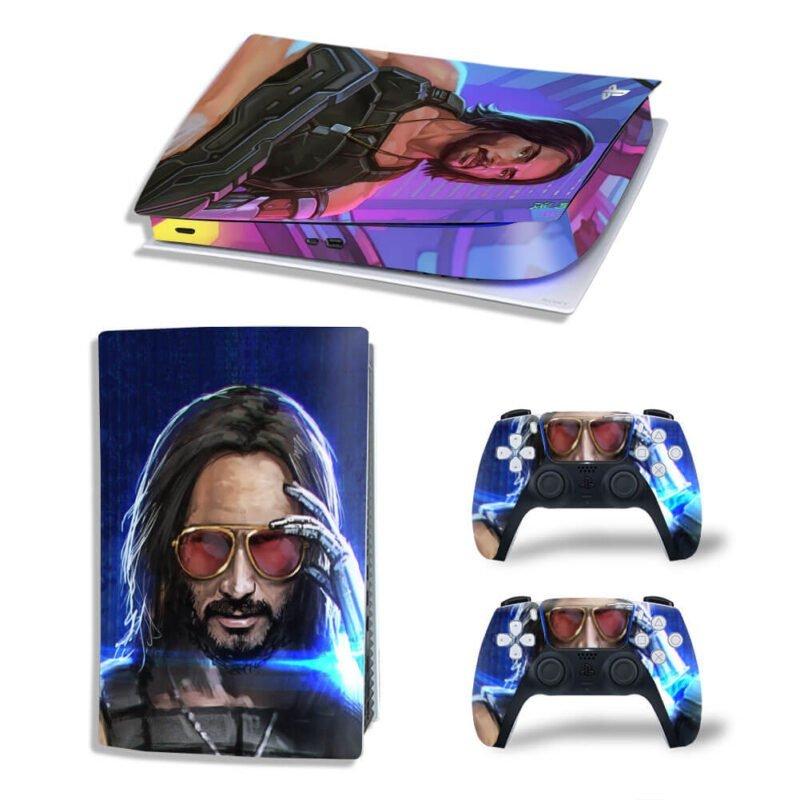 Johnny Silverhand Cyberpunk 2077 PS5 Digital Console Skin