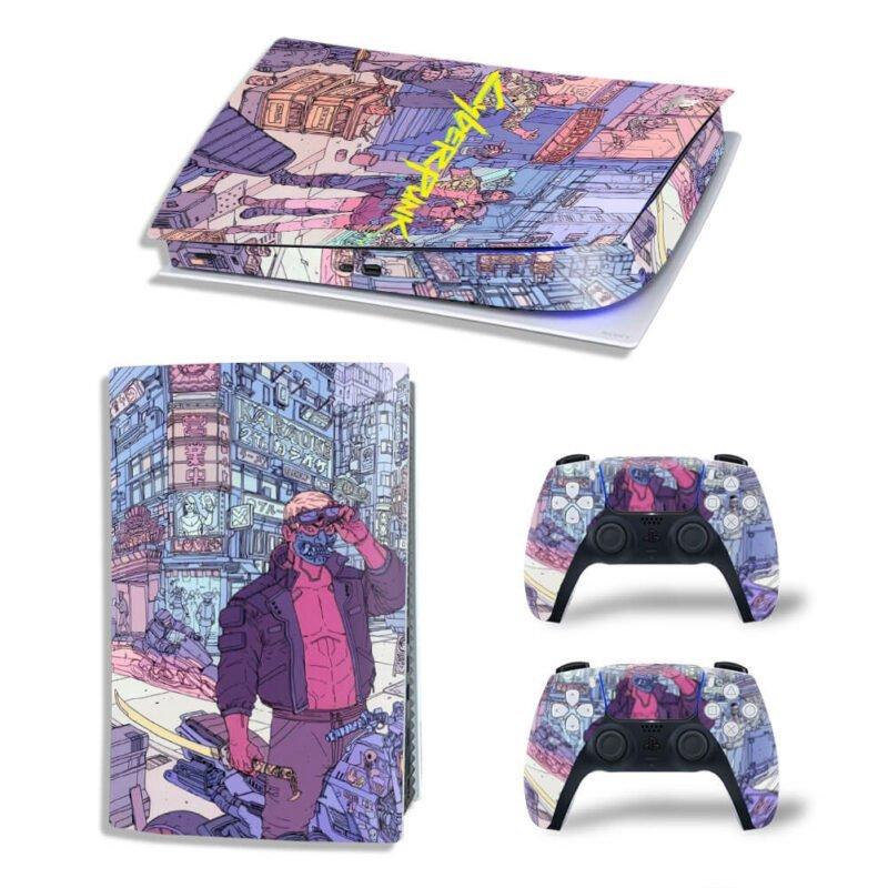 Cyberpunk 2077 Night City Pastel Fan Art PS5 Digital Cover