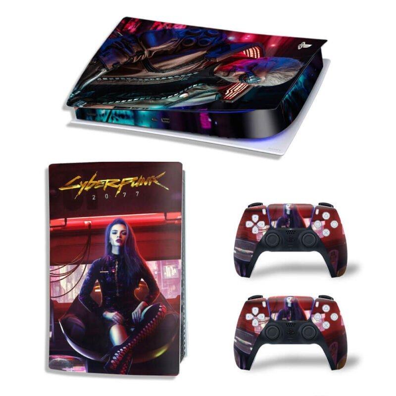 Cyberpunk 2077 Cyborg Geralt PS5 Digital Decal Cover