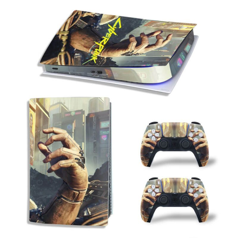 Cyberpunk 2077 Garbage Bionic Hand PS5 Digital Decal Cover