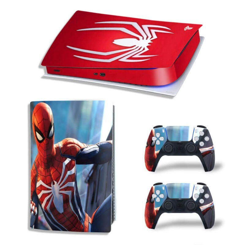 Spider-Man Remastered Suit Red PS5 Digital Console Skin