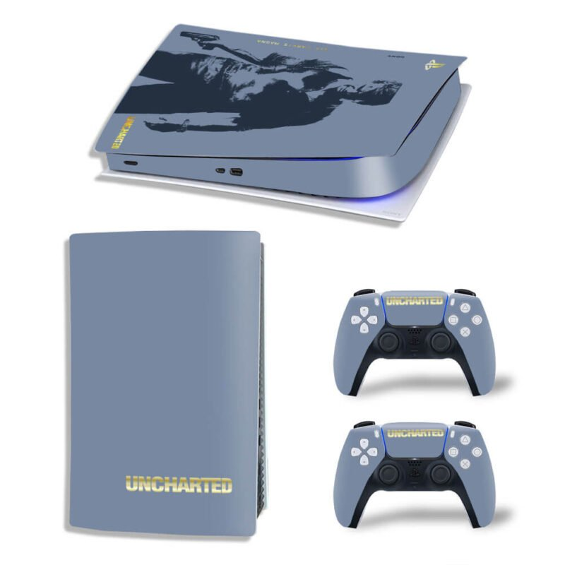 Uncharted Nathan Drake Silhouette Gray PS5 Digital Cover