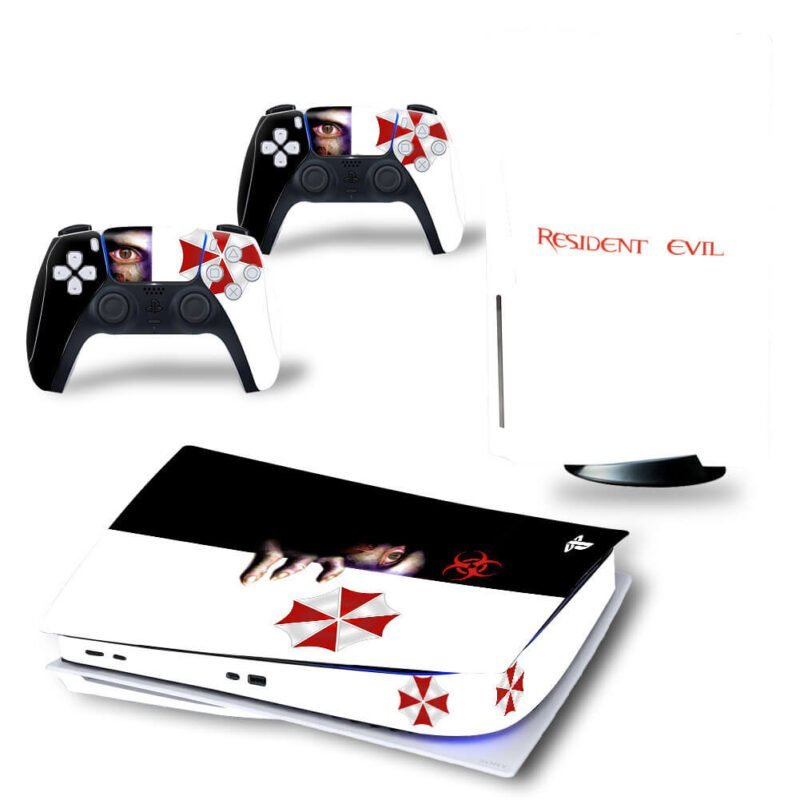 Resident Evil Black & White Awesome PS5 Disk Wrap