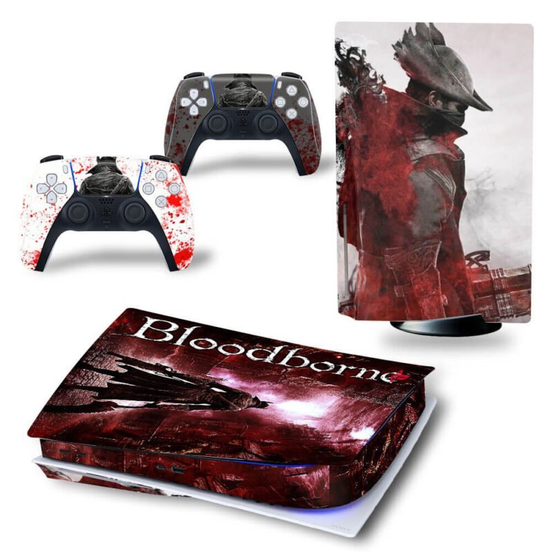 Bloodborne Dope Red & White The Hunter PS5 Disk Skin
