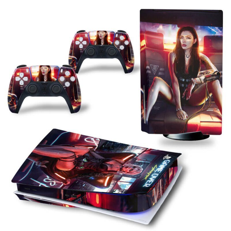 Cyberpunk 2077 Female Dope Characters Red PS5 Disk Cover