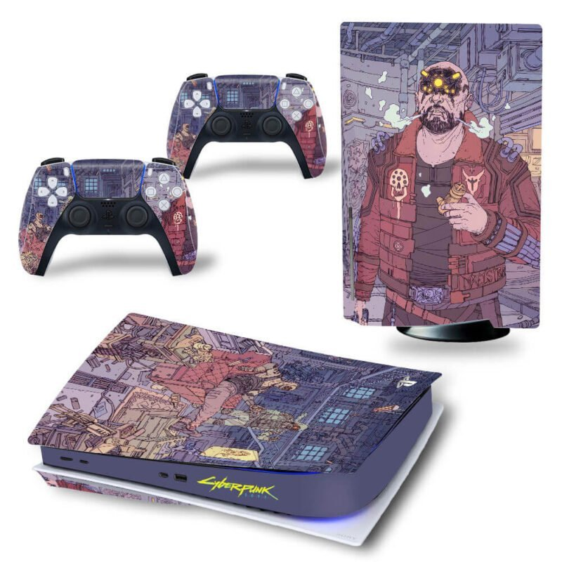 Cyberpunk 2077 Awesome Drawing Art PS5 Disk Decal Cover