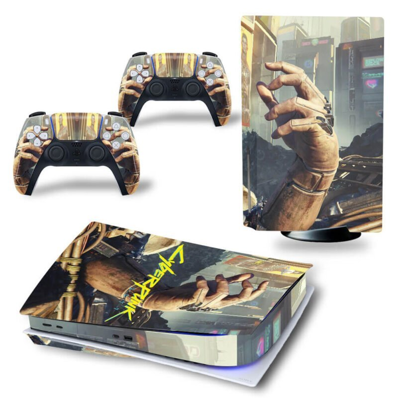 Cyberpunk 2077 Robot Hand Amazing PS5 Disk Decal Cover