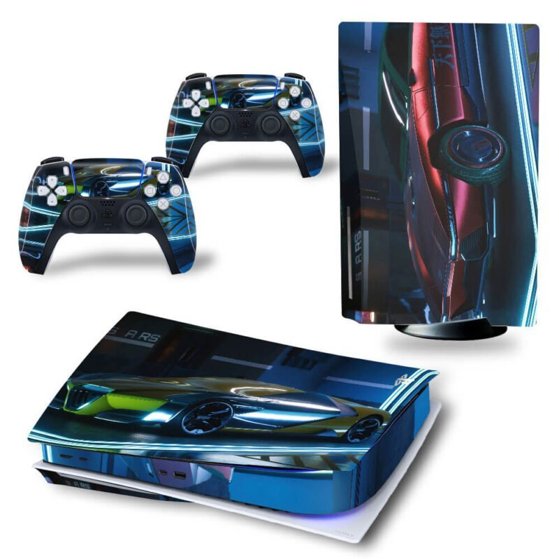 Cyberpunk 2077 Dope Car Vehicles PS5 Disk Decal Cover