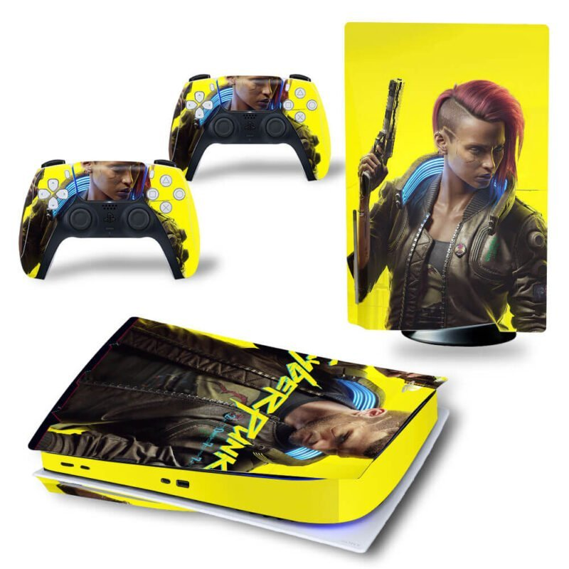 Cyberpunk 2077 Yellow Dope Characters PS5 Disk Decal