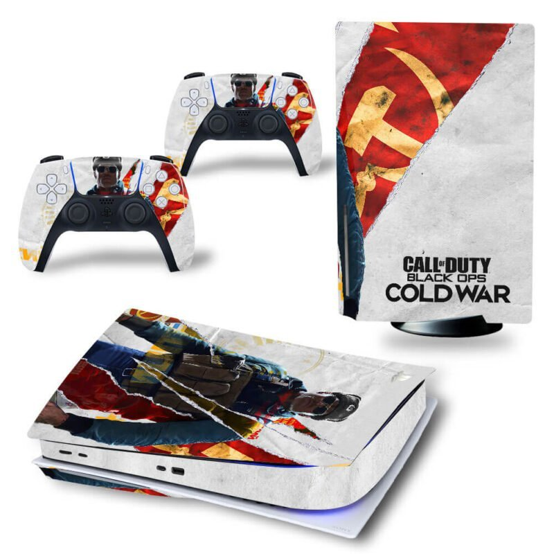 Call of Duty Black Ops Cold War Amazing Poster PS5 Disk Decal