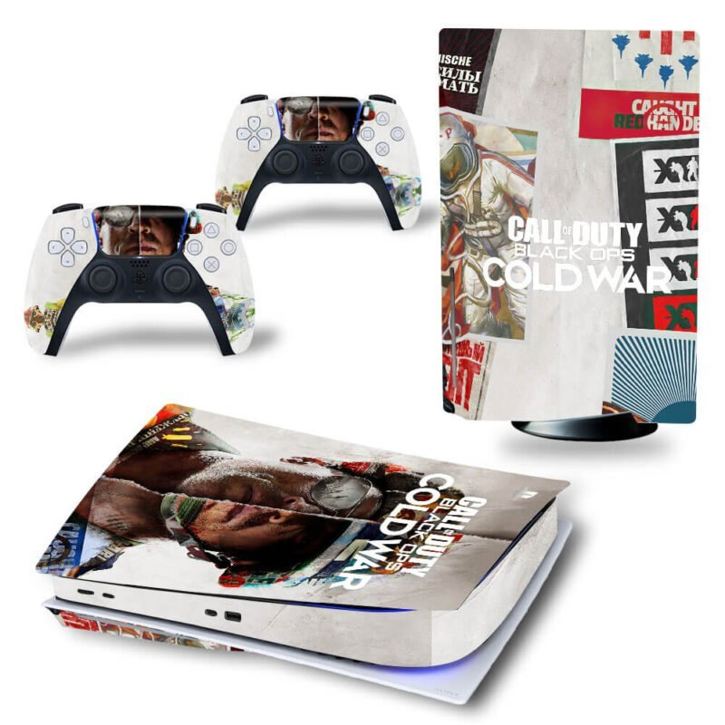 Call of Duty Black Ops Cold War Aesthetic Poster PS5 Disk Skin