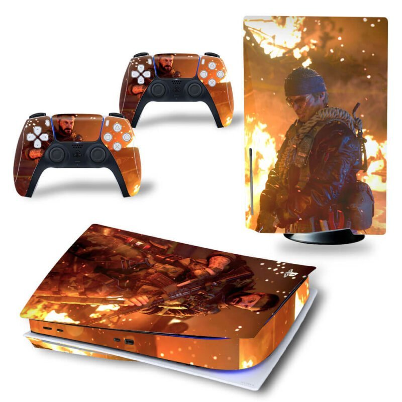 Call of Duty Black Ops Cold War Burning Embers PS5 Disk Cover