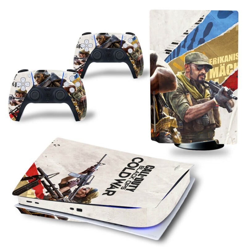Call Of Duty Black Ops Cold War Awesome Poster PS5 Disk Wrap
