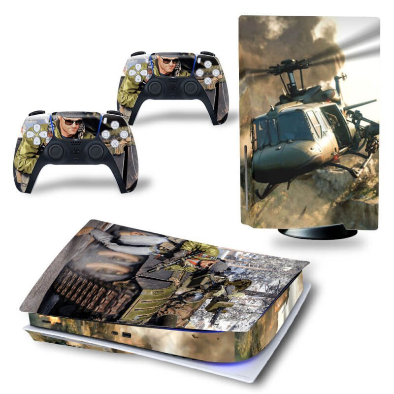 Call Of Duty Amazing Helicopter & Tanks Battle PS5 Disk Wrap