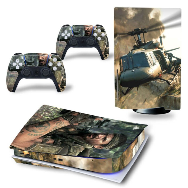 Call Of Duty Black Ops Helicopter & Army Cool PS5 Disk Cover