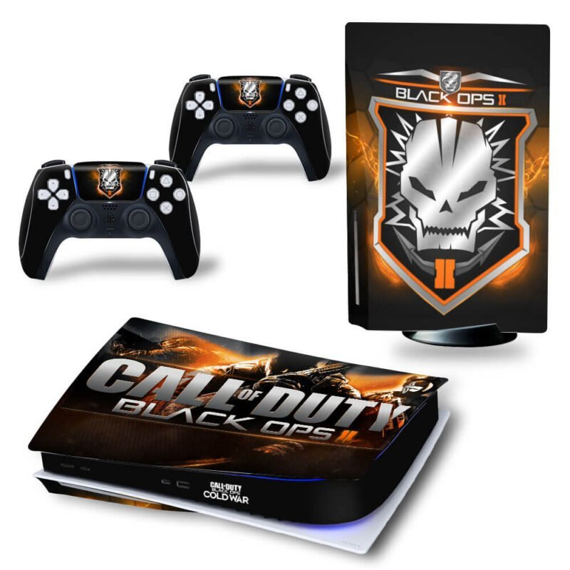 Call Of Duty Black Ops II Skull Black Dope PS5 Disk Decal