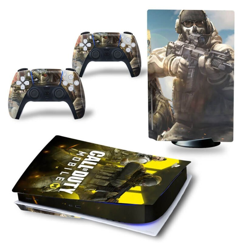 Call Of Duty Mobile Poster Ghost Riley Team PS5 Disk Cover
