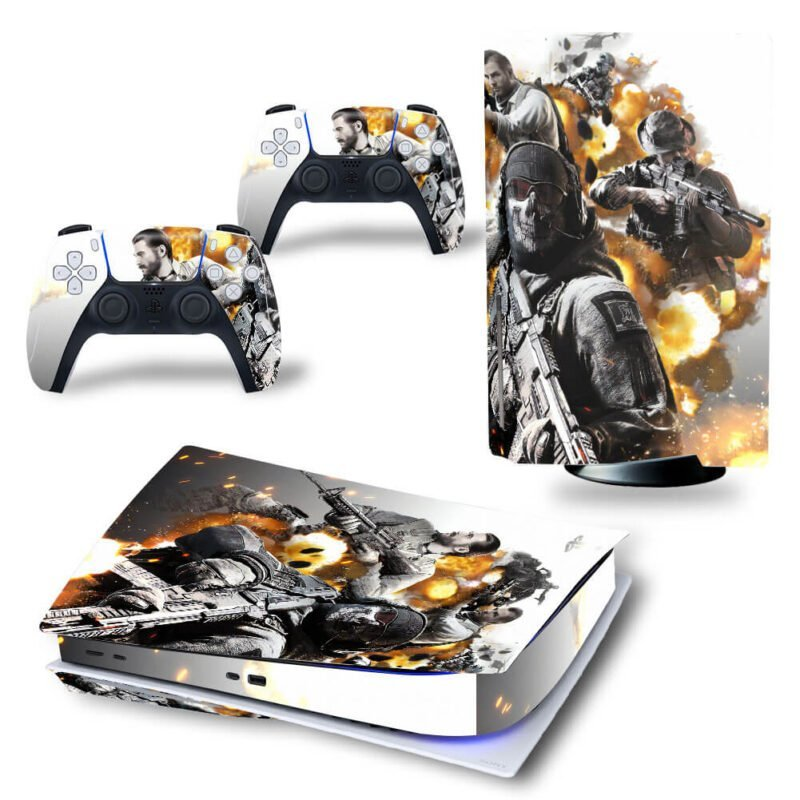 Call of Duty Mobile Poster White & Gold PS5 Disk Decal