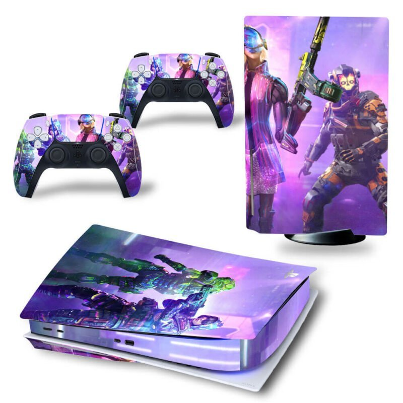 Call of Duty Mobile Aniversary Neon Design PS5 Disk Skin