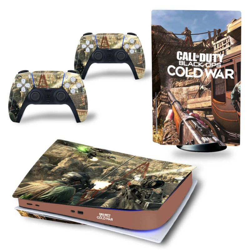 Call Of Duty Black Ops Cold War Battlefield PS5 Disk Wrap