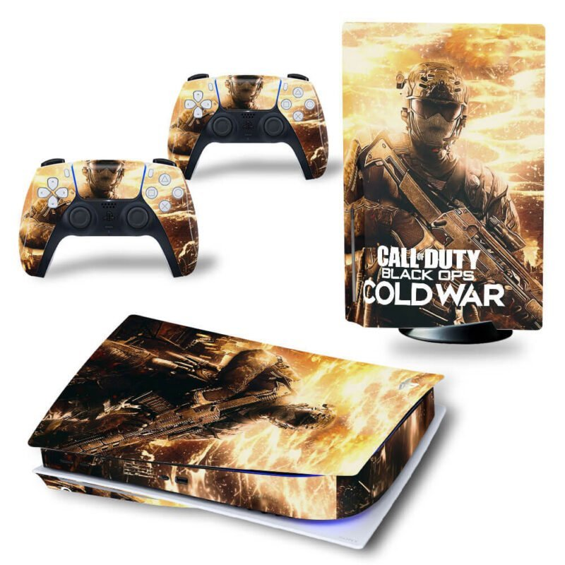 Call Of Duty Black Ops Cold War Dark Brown PS5 Disk Cover