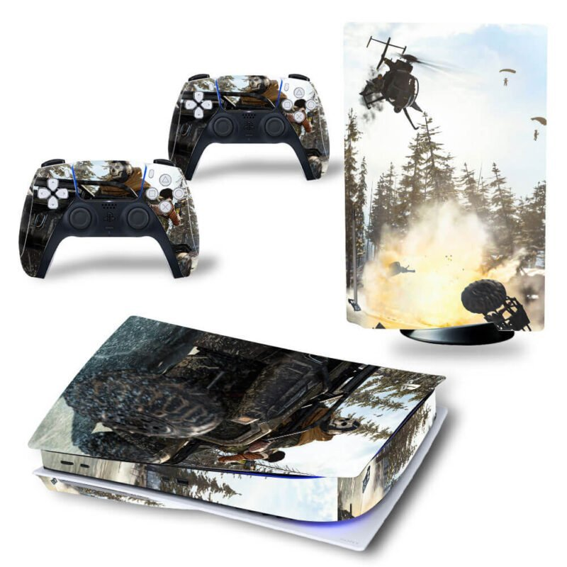 Call Of Duty Warzone Tanks & Helicopters Battle PS5 Disk Decal