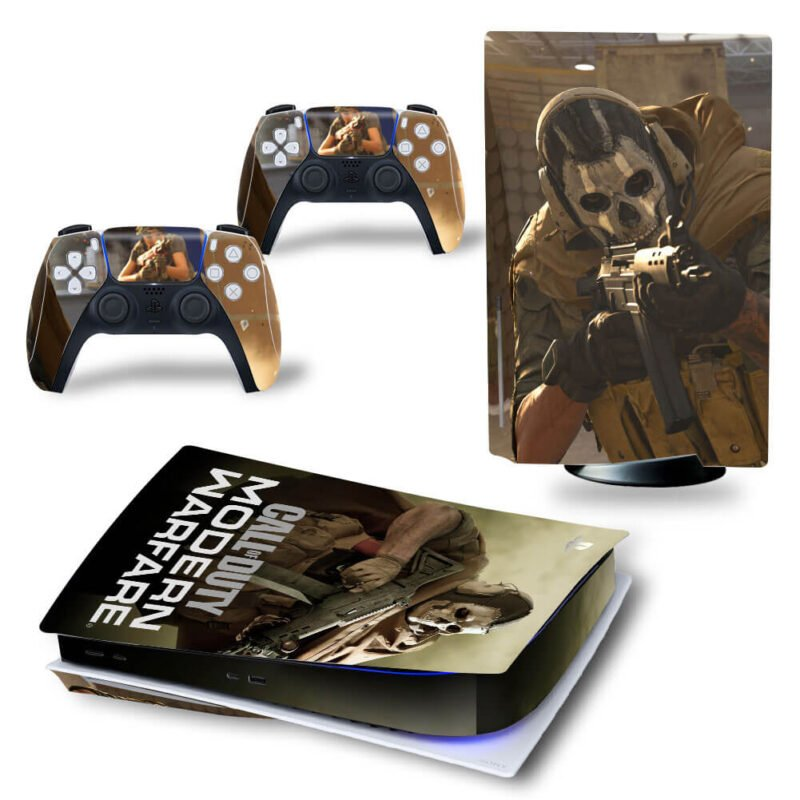 Call Of Duty Modern Warfare Skull Masked Gunner PS5 Disk Wrap