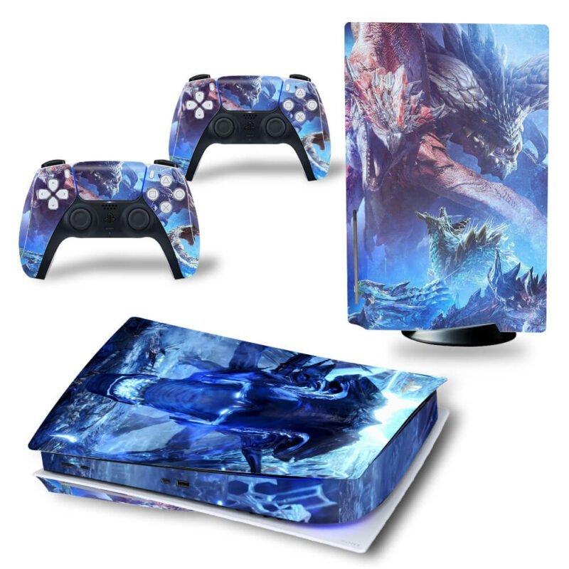 Monster Hunter World Iceborne Dragons Wyverns PS5 Disk Wrap