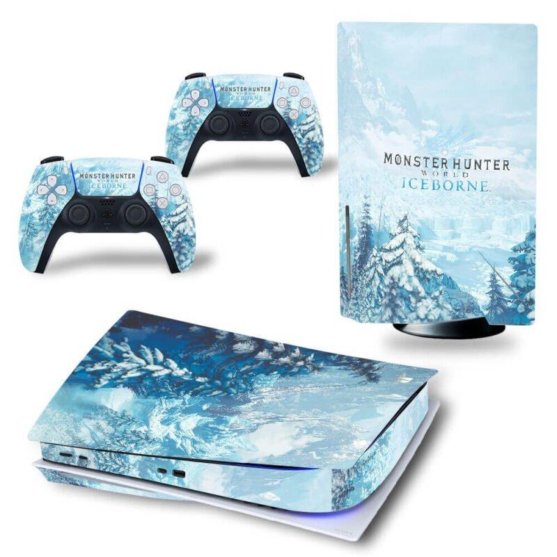 Monster Hunter World Iceborne Snow Mountains PS5 Disk Skin