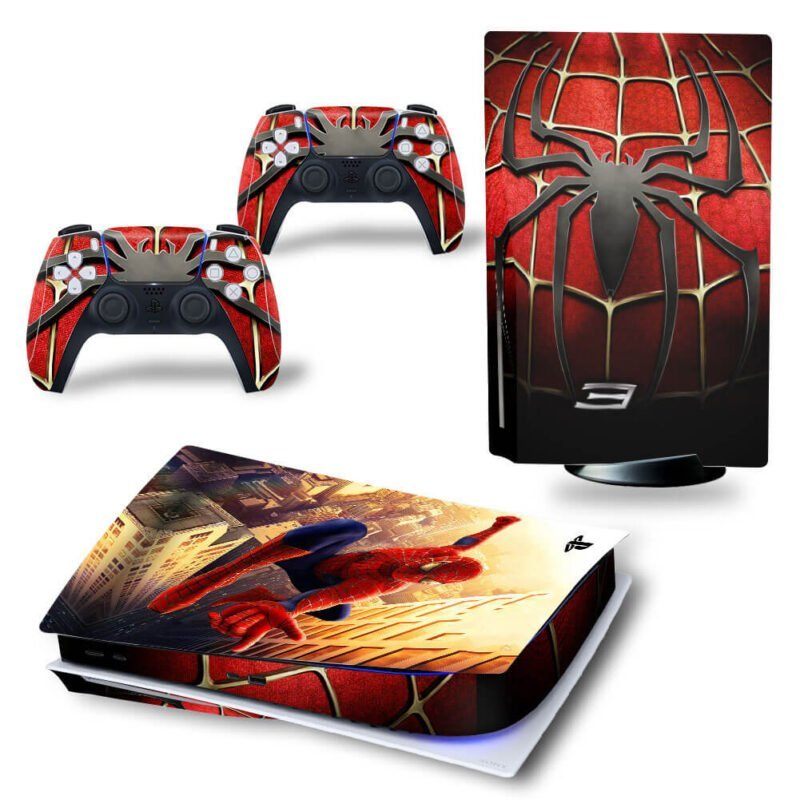 The Spiderman 3 Dope Emblem & Spiderweb PS5 Disk Cover