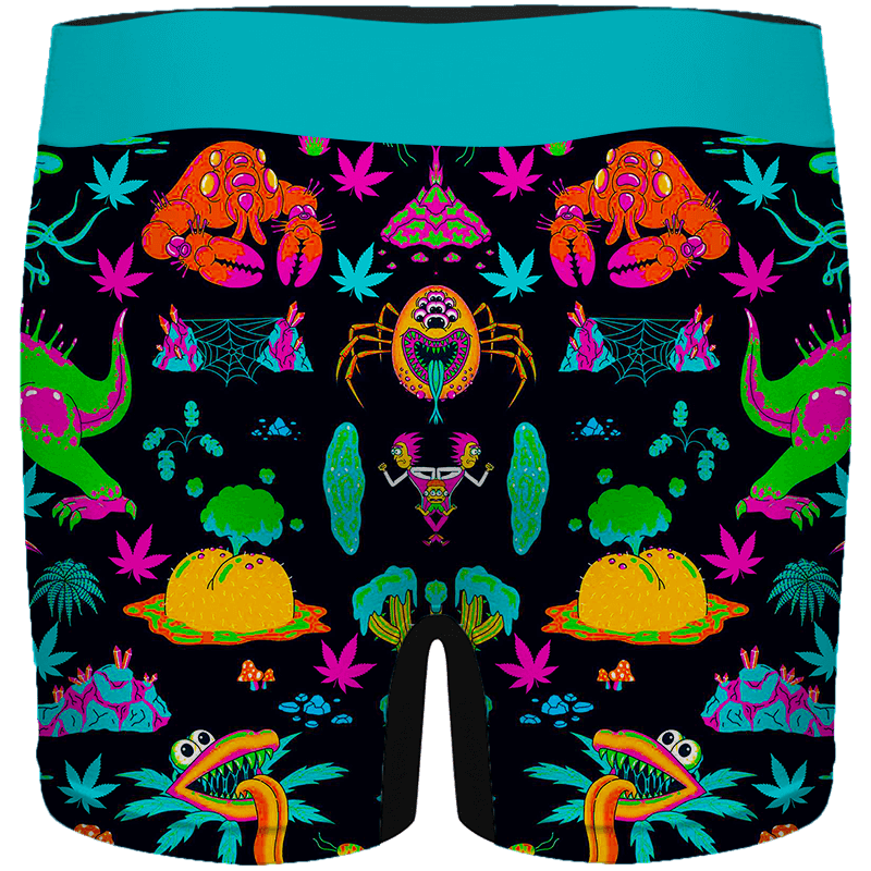 The Adventures of Rick and Morty Monsters 420 Weed Men's Boxers