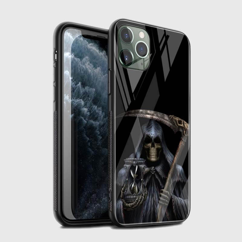 The Grim Reaper Holding Hourglass & Scythe iPhone 12 Case