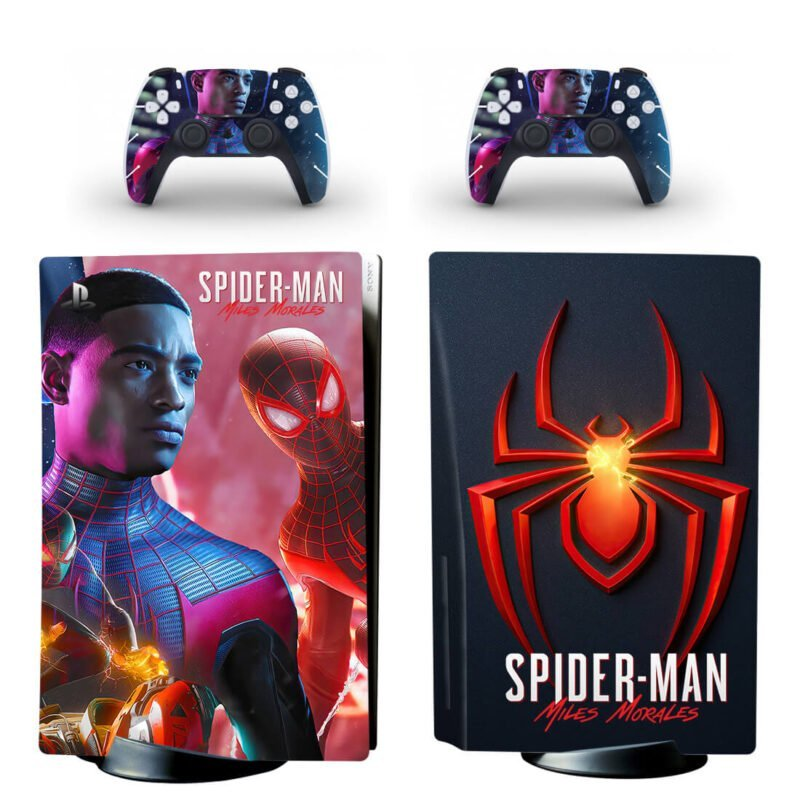 Spiderman Miles Morales Amazing Dark PS5 Disk Decal Cover