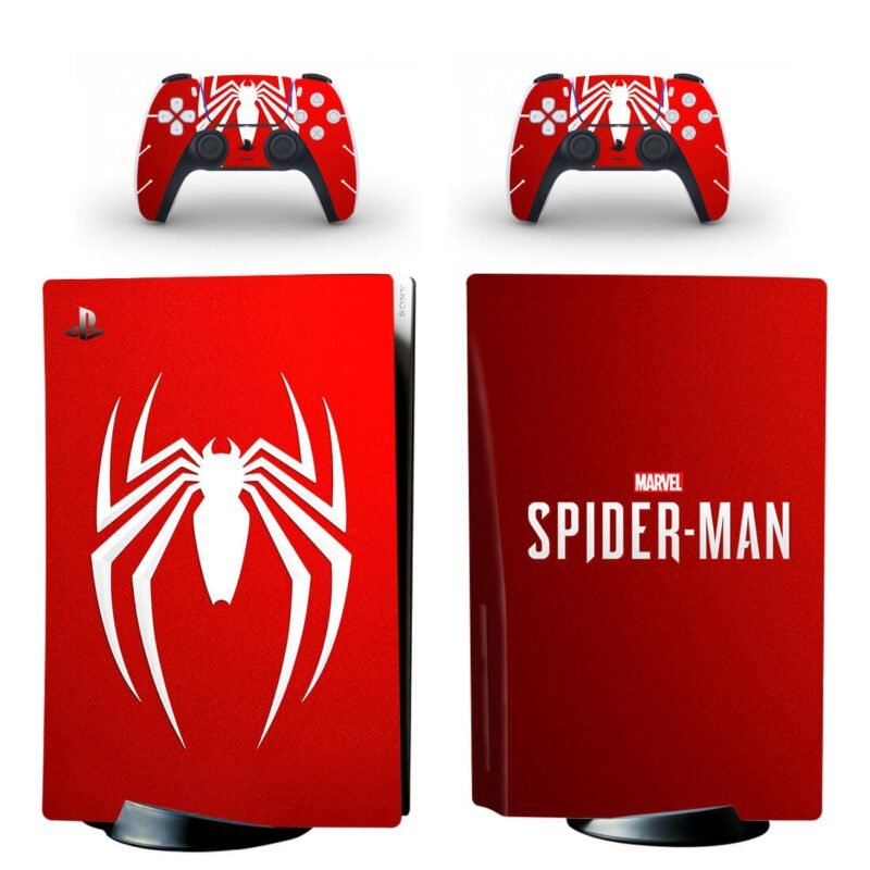 The Spiderman Logo Emblem Amazing Red PS5 Disk Skin