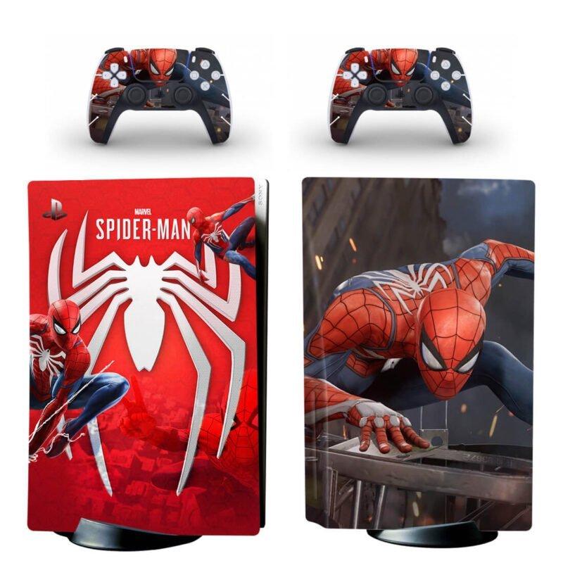 Marvel The Spiderman Emblem & Cool Scene PS5 Disk Decal