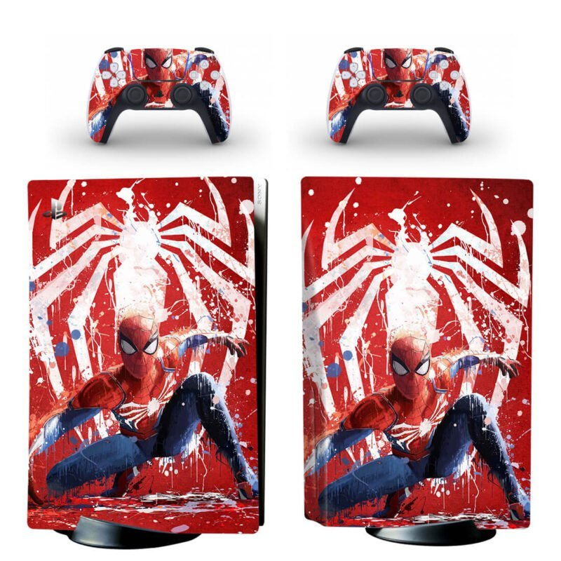 The Amazing Spiderman Cool Paint Art PS5 Disk Decal