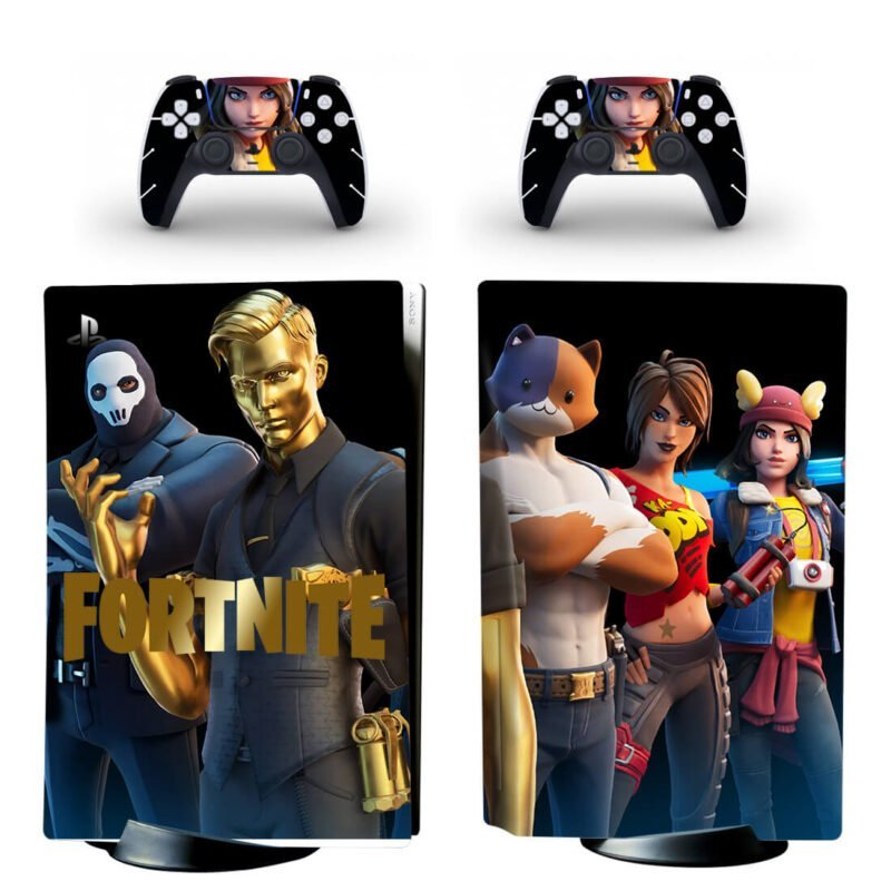 Fortnite Dope Characters Awesome Black PS5 Disk Decal Cover
