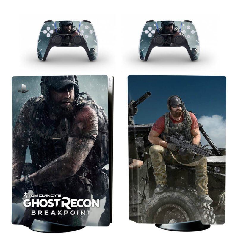 Ghost Recon Breakpoint Lieutenant Colonel Nomad PS5 Disk Skin