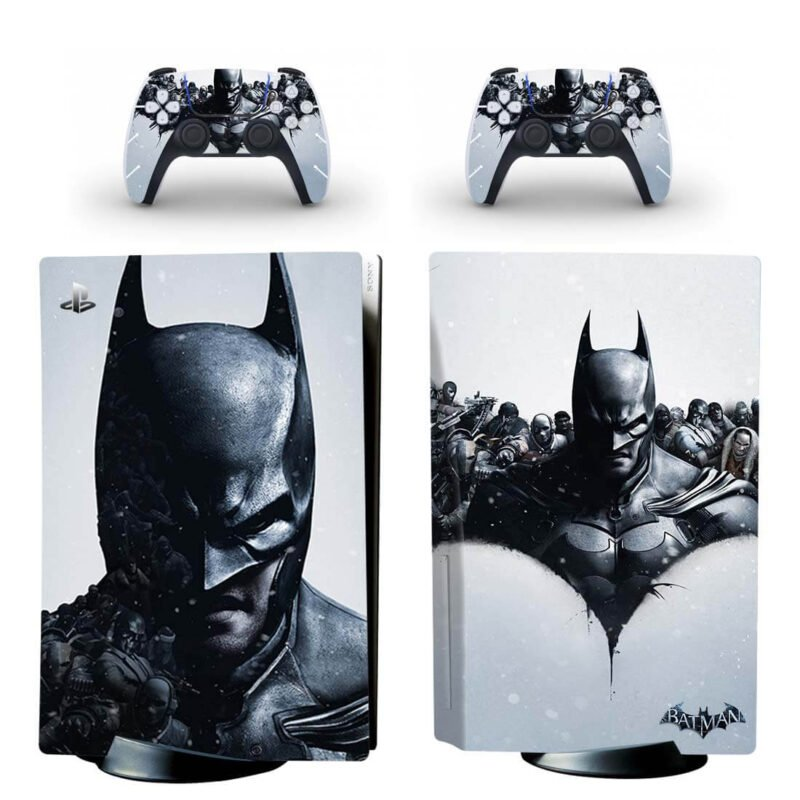The Batman Black & White Amazing PS5 Disk Decal Cover