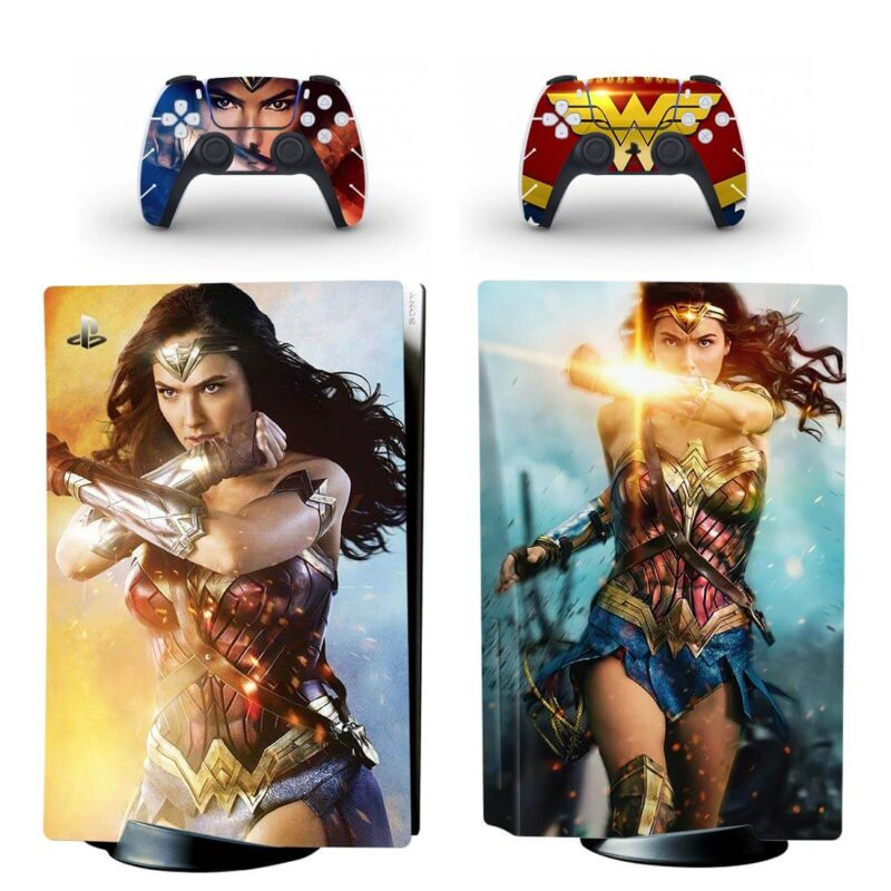 Wonder Woman Superheroine Amazonian Amazing PS5 Disk Skin