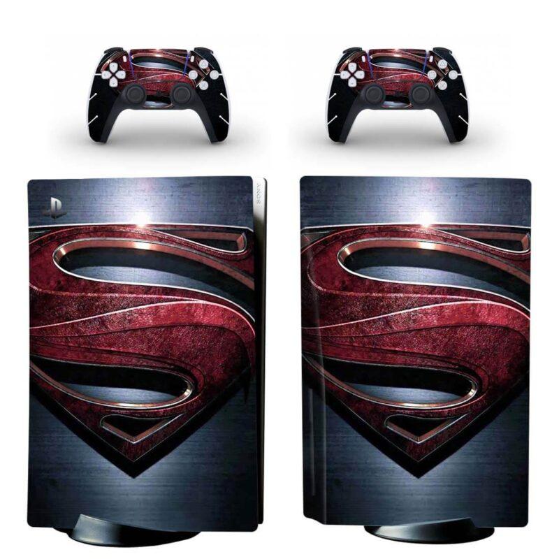 Superman The Man Of Steel Superhero Emblem PS5 Disk Skin
