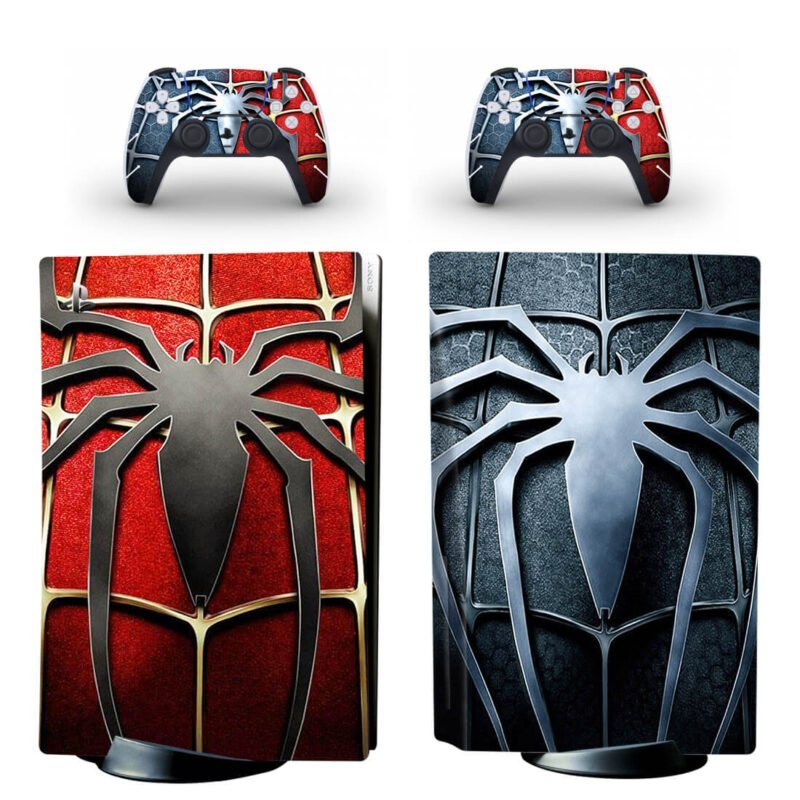 The Spider Man Chest Emblem In Red & Black PS5 Disk Skin