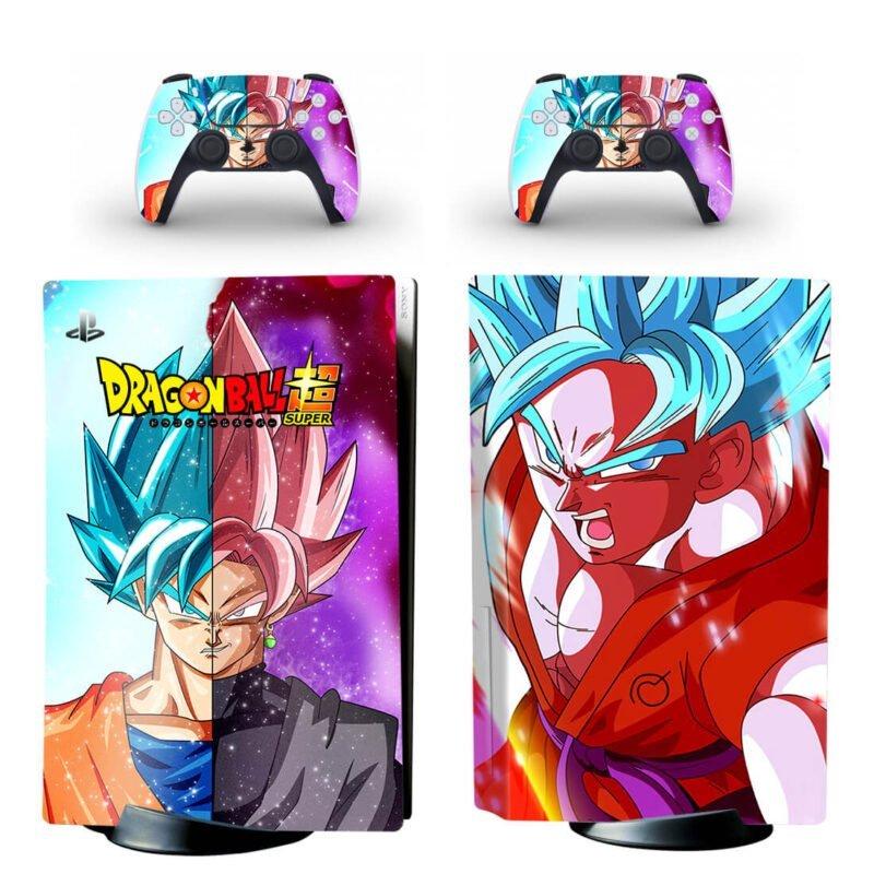 Dragon Ball Super Goku & Goku Black Dope PS5 Disk Decal
