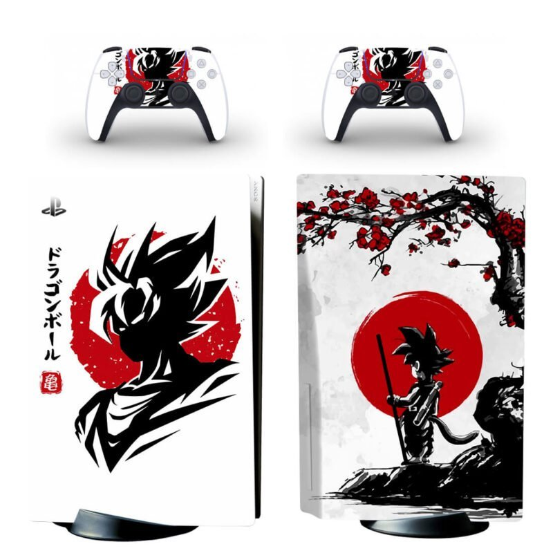 Dragon Ball Z Kid Goku Black & Red Classic PS5 Disk Wrap