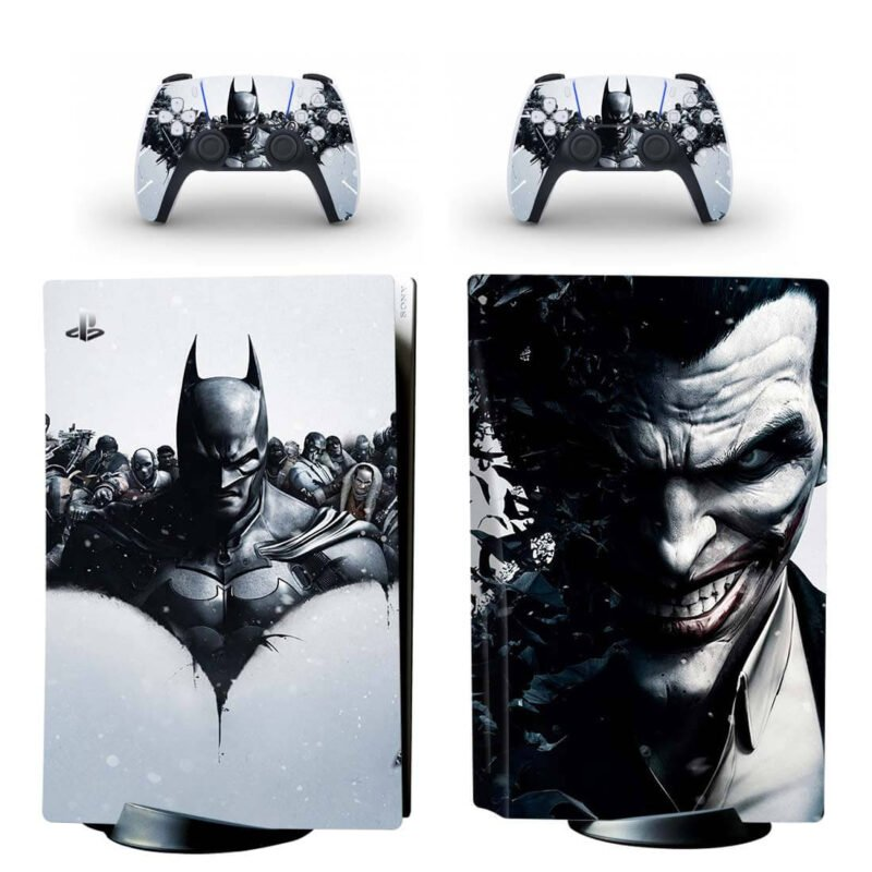 Black & White Batman & The Joker Serious PS5 Disk Decal