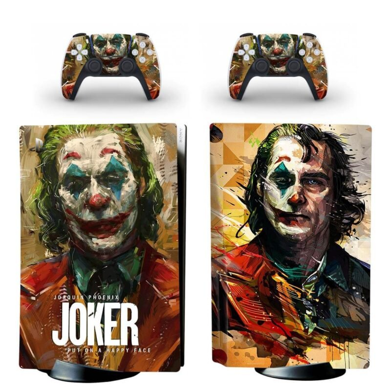 The Joker Movie Artistic Two Faced Colorful PS5 Disk Skin